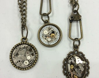 Steampunk Watch Parts Pendants