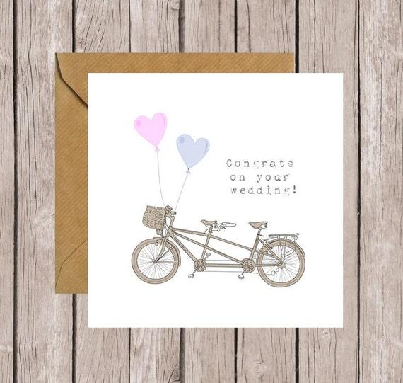 Tandem Herzlichen Glückwunsch auf Ihre Hochzeitskarte Karte für ...