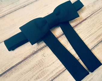 Maverick bowtie. Western bow tie. Black tie. Cotton bowtie. Mens accessories