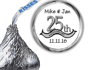 108 25th Anniversary Hershey Kiss Labels
