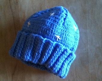 Blue Snowflake Hat