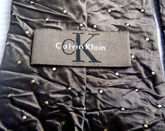CALVIN KLEIN Neckties Polka Dot Made in Japan