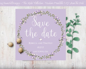 Custom Printable Square Save the Date Card - The Katie Collection