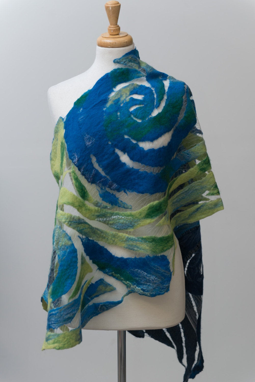 nuno felted scarf felted scarf felt scarf nuno feltsilk