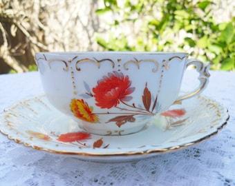 Vintage Aster Tea cup signed MyStar