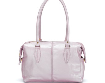 MOTHER DAY SALE - Pink leather bag, Tota bag ,Everyday bag, Leather handbag, Women Pink bag, Shoulder bag, Messenger bag, Bride gift