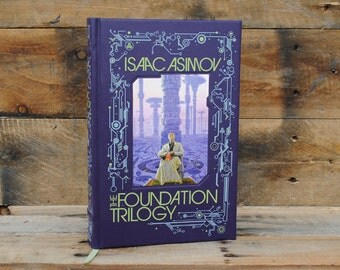 Book Safe - The Foundation Trilogy - Leather Bound Hollow Book Safe
