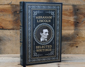 Hollow Book Safe - Abraham Lincoln - Leather Bound