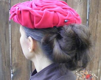 Vintage Pink Velvet Hat