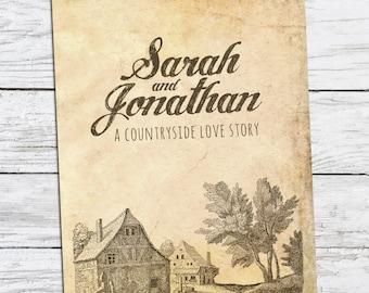 Countryside Love Story - Wedding Invitation Printable DIY
