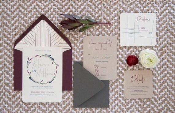 Native American Wedding Invitations: Items Similar To Boho Aztec Native American Wedding