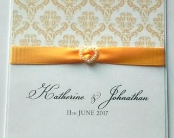 """Wedding invitation """"Katherine"""" heart invitation"""