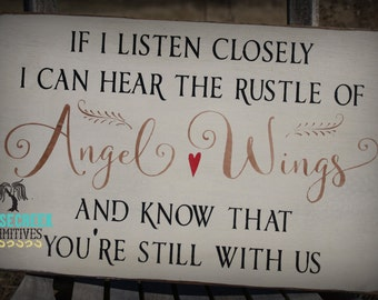 Angel Wings Wall Decor, In Memory, Lost Loved Ones, Sympathy GIft