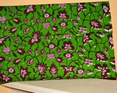 Green Ankara Clutch