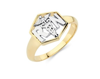 14K Two-Tone RN Registered Nurse Ring, Registered Nurse Ring, RN Jewelry, Registered Nurse Jewelry, Gold Ring, Two-Tone Ring
