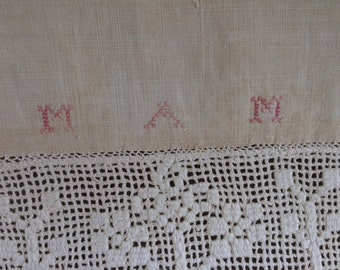 Antique  Homespun Linen Show Towel