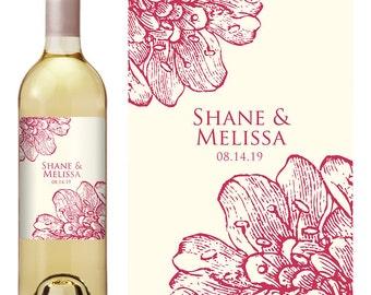 Wedding Wine Label - Custom Wine Label - Personalized Wine Label - Wedding Wine Bottle Label