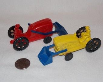 Lot of 2 Wannatoy Plastic Toy Tractors