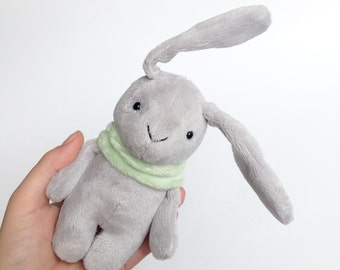 Small bunny toy - stuffed bunny - pocket plush - pocket doll - mini plush toy - ready to ship!!