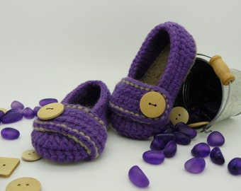 Ballerine crochet baby shoes Viola