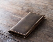 iPhone 6 PLUS Wallet Clutch Case - Leather iPhone Wallet Case - Rustic Signature Hand-Stitching by JooJoobs [065]