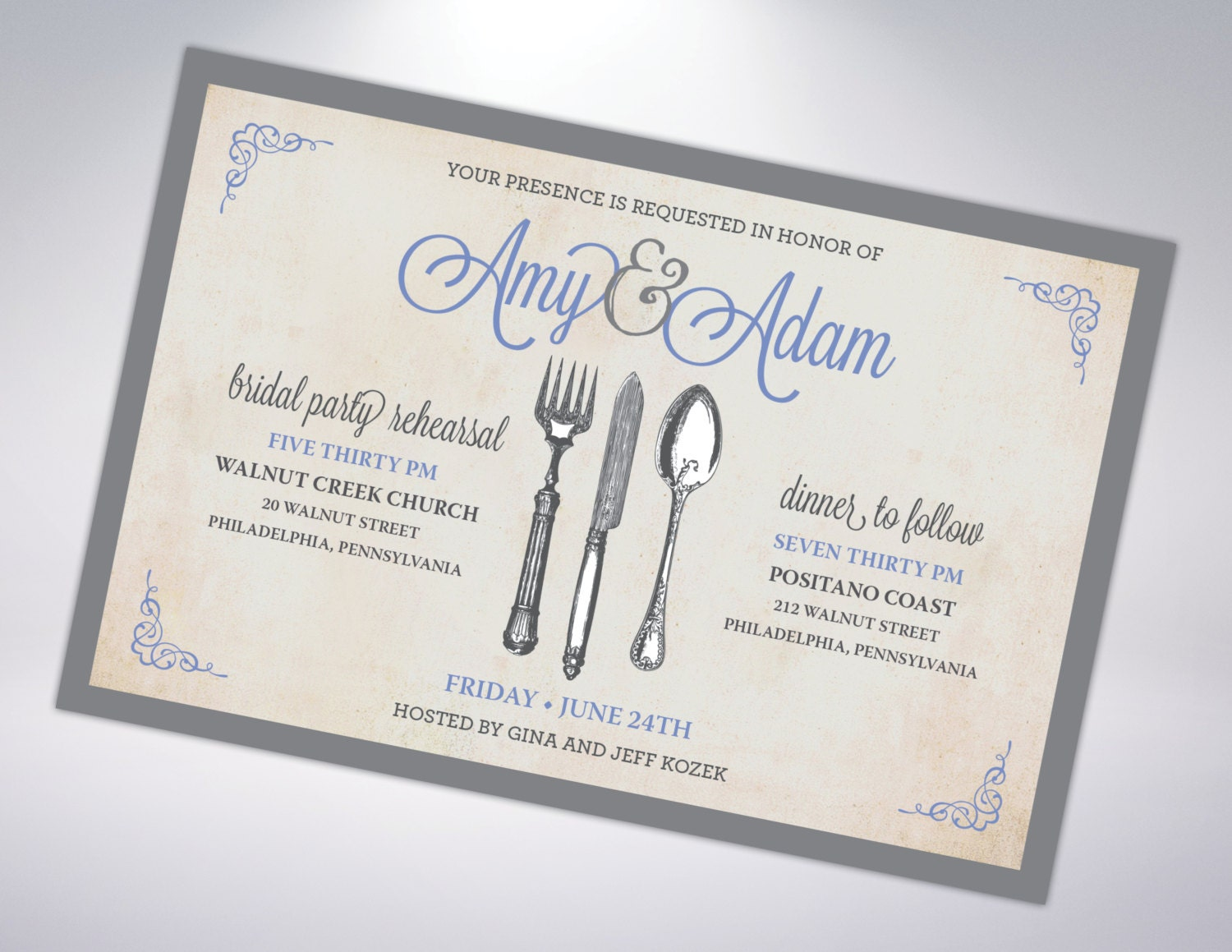 Who Do You Invite To Wedding Rehearsal Dinner: Rehearsal Dinner Invitation Postcard Optional