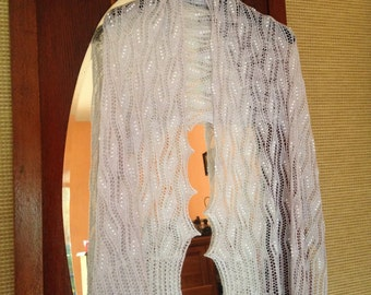 haapsalu shawl in merino, silk and cashmere blend yarn