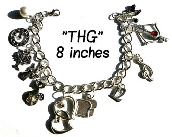 Charm Bracelet, The Hunger Games, Star-Crossed Lovers Hunger Games Inspired Charm Bracelet(OneOfAKind)