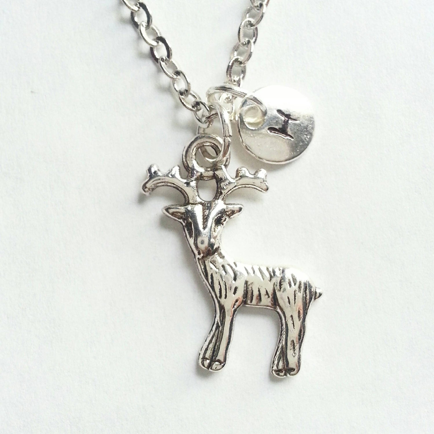 monogrammed personalized silver hp inspired patronus charm