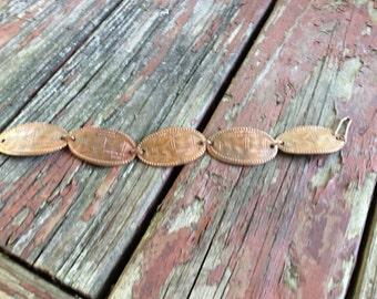 Vintage Copper San Francisco Bracelet - Pressed Penny Bracelet - San Francisco Penny Souvenir Bracelet