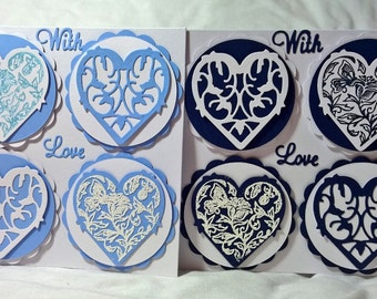 Four Decorative Hearts