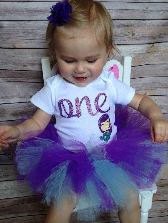 Like this item? - Little Mermaid First Birthday Outfit Little Mermaid 1st