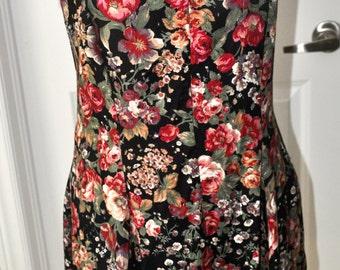 SALE - Vintage, 90s rayon dress