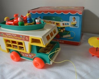 Vintage fisher price - play family - camper (994) - with box
