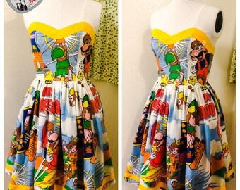 Legend of Zelda, Mario Bros Bed Sheet Dress.