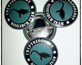 """Loch Ness Monster - Cryptozoology Research Team 1.25"""" (31.7mm) Pinback Button"""