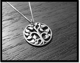Tree of Life Necklace, Family Tree Neckace, Sterling Tree of Life, Silver Family Tree Charm, Mothers Gift, Mothers Necklace