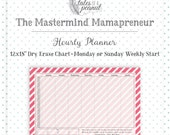 Hourly Planner (Sunday Start) - Mastermind Mamapreneur - Dry Erase Planner - Hourly Organizer - Organizational - Time Management