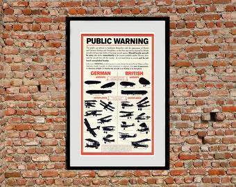 Reprint of a British WW1 Air-Raid Precaution Poster