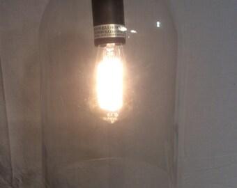 Glass Dome Hanging Lamp Light Edison Bulb Art Deco Modern
