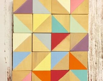 Coloured wooden blocks, bloggers photo prop