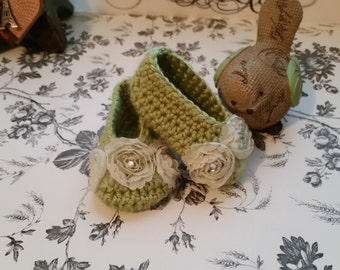Mary Jane Slippers 0-3 months