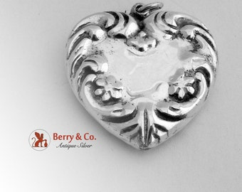 Puffy Heart Pendant Sterling Silver