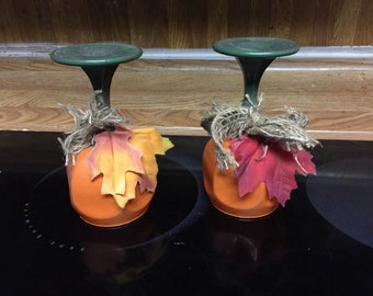 Fall candle holders..