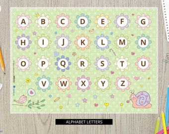 educational-placemats-alphabet letters -PLACEMAT for kids-alphabet art-Educational placemat-placemats-letters-Alphabet placemat-Learning ABC
