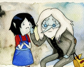 Marceline and Ice King Adventure Time Painting
