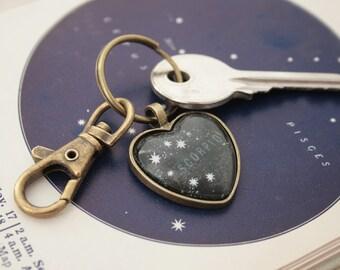 Porte-clés Scorpion personnalisé coeur porte clés avec Scorpion zodiaque trousseau anniversaire cadeaux étoiles Constellation porte-clé