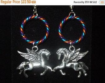 ON SALE Twisted Color Pegasus Earrings