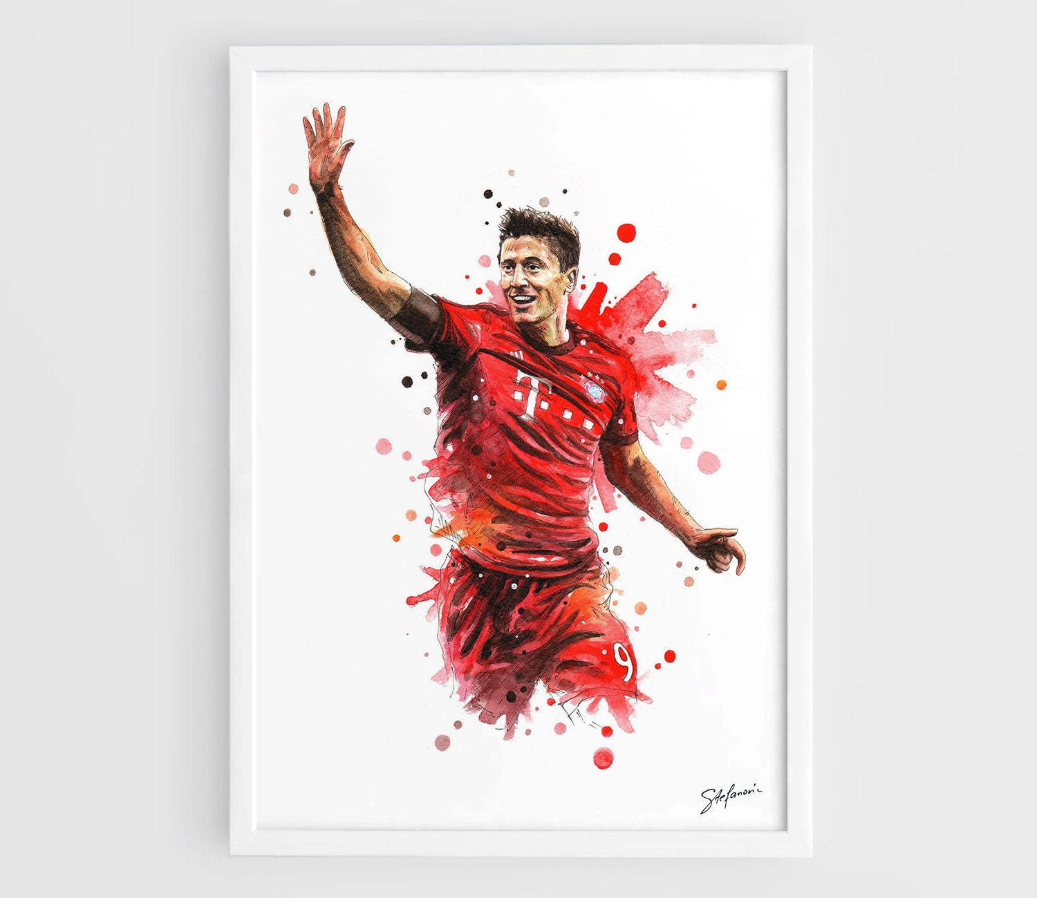 robert lewandowski bayern munich a3 wall art print poster of. Black Bedroom Furniture Sets. Home Design Ideas