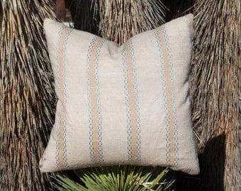 """20"""" x 20"""" Handmade Vintage Fabric Pillow Case Cushion Cover in peach/blush"""